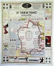 1933 Tour De France Original Vintage Bicycle Poster - Cycling