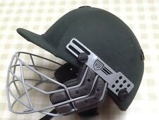 C &D Albion Cricket Helmet and Grill. Size  58 cm Used. Green