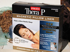 """Therapy Magnetic Pillow Liner 40 Magnets Standard Size 20 x 26"""" Homedics - NEW"""