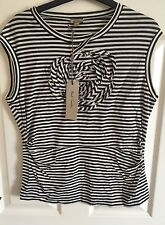 BNWT PAUL SMITH Striped Flower Top Size Large