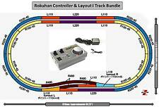 Z Scale Rokuhan RC03 Controller/Double Oval Plan I Track Bundle