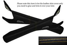 Jaune stitch fits CORVETTE C6 2005-2013 2x PARE-BRISE pilier cuir peau de couverture