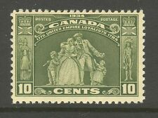 Canada #209, 1934 10c Loyalists Monument - Hamilton Ontario, Unused Hinged
