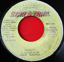 "Jack Radics Purify JA 7"" Dancehall Star Trail b/w Version"