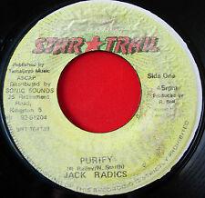"""Jack Radics Purify JA 7"""" Dancehall Star Trail b/w Version VINYL"""