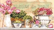 "Dimensions Counted Cross Stitch kit 14"" x 8"" ~ FLOWERS OF PARIS #35204 Sale"