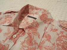 "TED BAKER Mens Shirt �� Size 4 (40"" CHEST) �� RRP £110+ �� FANTASTICALLY FLORAL"
