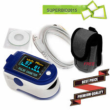 CE OLED Fingertip Pulse oximeter spo2 HEARTBEAT BLOOD Oxygen PC software CMS50D+
