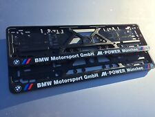BMW number plate surrounds M Power motorsport (pair) M3 M5 M6 E60 Z4 X5 E39 E46