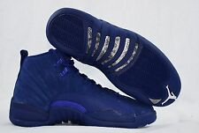 Nike Air Jordan XII 12 Retro 130690-400 Blue Suede Mens Shoes Size 9 New in Box