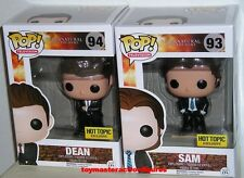FUNKO POP TV SUPERNATURAL SAM & DEAN WINCHESTER FBI SUIT Hot Topic IN STOCK