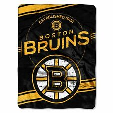 Boston Bruins 60x80 Plush Raschel Throw Blanket - Stamp Design [NEW] NHL