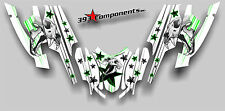 Arctic Cat Firecat Sabercat F5 F6 F7 03-06 Graphics Decal Skull Cat Green White