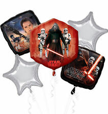 STAR WARS HELIUM BALLOON BOUQUET BIRTHDAY PARTY 5 PIECE (2 SIDED SUPERSHAPE)
