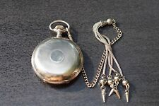 ANTIKE  DOPPELDECKEL FULL 0,875 SILBER  113 GR Taschenuhr POCKET WATCH