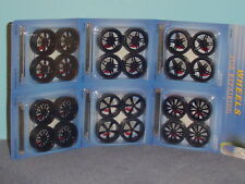CUSTOM BLACK SPOKE WHEEL & TIRE SETS 1:24  SET OF 6  Series 2