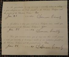 1884 document - are you willing to bare arms for the Christian Religion?