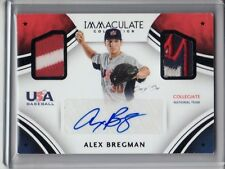 2016 ALEX BREGMAN IMMACULATE USA BASEBALL AUTO DUAL PATCH PARALLEL 1 OF 1 1/1