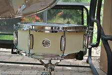 "NEW GRETSCH 14"" CATALINA CLUB SATIN WHITE CHOCOLATE SNARE DRUM FOR DRUM SET T676"