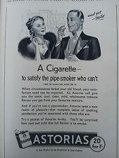 Publicité 1938 ASTORIAS CIGARETTE élégance tabac Antiques advertising