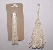 "3 Tassels IVORY Color Rayon  3-3/4"" New Sewing Craft Supply"