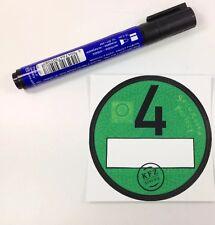 1x  Feinstaubplakette / Spassplakette / Umweltplakette & 1x UV beständige Marker