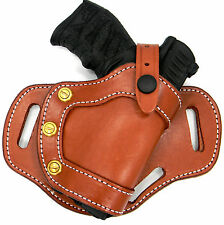 CEBECI Brown Leather RH Small of Back SOB OWB Belt Holster - WALTHER PK380