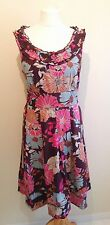 Size 18 Dress PHASE EIGHT  Casual  Brown Purple Pink Floral 1116