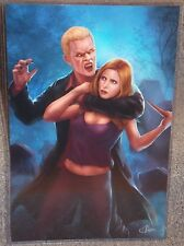 Buffy The Vampire Slayer vs Spike Glossy Print 11 x 17 In Hard Plastic Sleeve