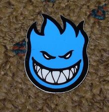 "SPITFIRE BLUE Logo Skate Sticker 1.5 X 1.25"" great 4 skateboards helmets decal"