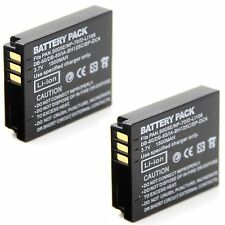 2x 3.7v 1500mAh Battery For DB-60 DB-65 Ricoh GR Digital II III IV GX200 Camera