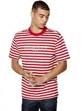 Red XL Guess Jeans Striped Tee Shirt ASAP ROCKY IAN CONNOR VIRGIL ABLOH