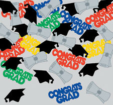 Graduation Table Confetti Party Decorations Mortar Boards Colour Congrats Grad