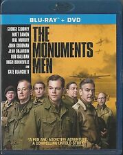 THE MONUMENTS MEN GEORGE CLOONEY BLU-RAY/DVD 2 DISC