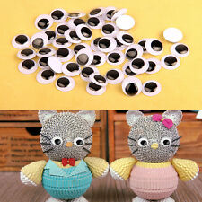 100Pcs Movable Wiggly Googly Eyes Scrapbooking Self-adhesive Peel Sticker Gifts