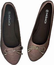 NWOB♥TEXTURED♥BEAVERBROWN♥ISS€Y MIY@KE INSPIRED♥WOMEN'S♥CLASSIC♥FLAT SHOES_37/36