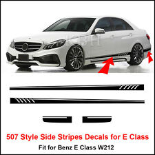 507 Style Side Stripes Sticker for Mercedes Benz W212 E 63 Class AMG Matt Black