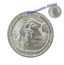 ESTADOS UNIDOS USA quarter dollar 2015 P SARATOGA NEW YORK UNC