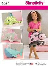 SIMPLICITY SEWING PATTERN CHILDRENS ANIMAL BAG ELEPHANT LADY BUG FROG WHALE 1084