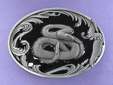 Western Rattle Snake Belt Buckle