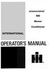 International 990 Mower Conditioner Operators Manual