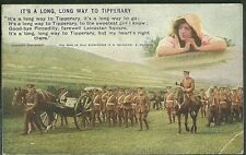 Pre 1915 Used postcard its a long way to tipperary british troops marching