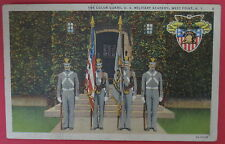 VTG POSTCARD-THE COLOR GUARD-U.S. MILITARY ACADEMY-WEST POINT NEW YORK-N.Y.