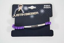 Justin Bieber Boyfriend Beaded Bracelet Purple JB Authentic Bravado NWT
