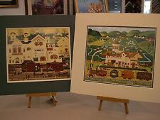2 MATTED CHARLES WYSOCKI PICTURES TRAIN STATION MAIN STREET FOX HILL FARM DERBY