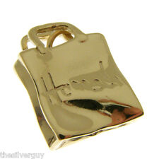 GOLD HARRODS BAG CHARM.   HALLMARKED 9 CARAT GOLD HARRODS BAG CHARM