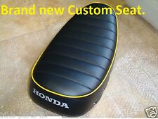 HONDA CT70 TRAIL 70 ST70 New COMPLETE Custom SEAT with *Yellow Piping*
