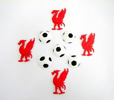 loose cake decorations 4 x liverbirds and 5x footballs  Liverpool football