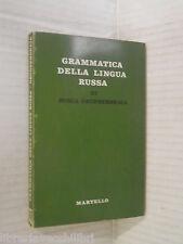GRAMMATICA DELLA LINGUA RUSSA Sonia Grodsenskaia Martello 1964 linguistica libro