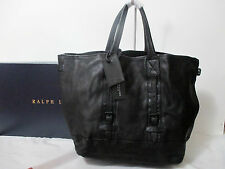 Ralph Lauren Black Label ~Leather Soft Gent's Tote~Black Distressed $795-NWT/NWB